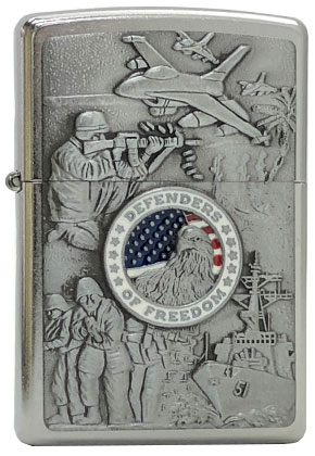 【ZIPPO】ジッポー:#24457/JOINED FORCES 陸海空軍 USAカタログ