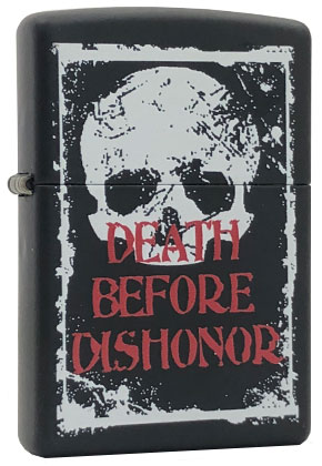【ZIPPO】ジッポー:#24711/Death before dishonor USAカタログ