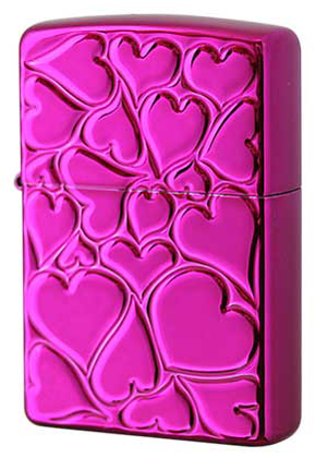 【ZIPPO】ジッポー:FILL LOVE(D)/Purple Coating