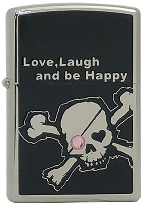 【ZIPPO】ジッポー:Love lough skull/300個限定
