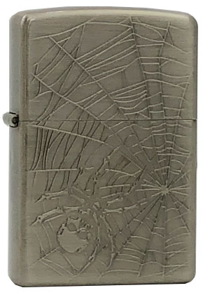 【ZIPPO】ジッポー:SKULL SPIDER(F)/Antique Nickel